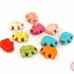 หินแฟนซี รูปช้าง คละสี 11x14 มิล (10ชิ้น)