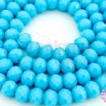 คริสตัลจีน ทรงซาลาเปา สีฟ้าขุ่น 6มิล(1เส้น)