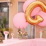 """ลูกโป่งฟอยล์รูปตัวอักษร G สีทอง ไซส์จัมโบ้ 40 นิ้ว - G Letter Shape Foil Balloon Size 40"""" Gold Color"""