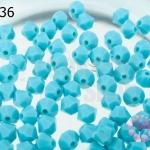 คริสตัลสวารอฟสกี้ (SWAROVSKI) สีฟ้าด้าน(267) 4มิล(100เม็ด)