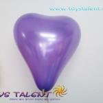 ลูกโป่งหัวใจ เนื้อเมททาลิก สีม่วงเข้ม ไซส์ 6 นิ้ว แพ็คละ 10 ใบ