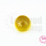 เพชรพญานาคหรือมณีใต้น้ำ กลม ไม่มีรู สีเหลือง 14มิล(1ชิ้น)