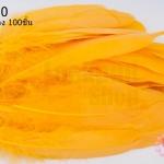 ขนนก(ก้าน) สีเหลืองทอง 100ชิ้น