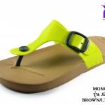 รองเท้าแตะ Monobo โมโนโบ้ รุ่น Jello เจลโล่ สีเขียวมะนาว เบอร์ 5-8