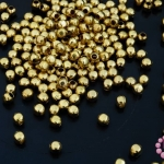 ลูกปัดโลหะ ทองเหลือง กลมเหลี่ยม 4มิล (1ขีด)