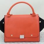 พร้อมส่ง กระเป๋าแฟชั่น Xiaocai สีส้ม ใบกลาง กระเป๋าเปลี่ยนได้ 2 ทรง แบบเก๋ แถมสายยาวให้ สวยๆ ค่ะ