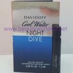 น้ำหอม Davidoff Cool Water Night Dive ขนาดทดลอง 1.2 ml.