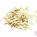 เลื่อมปัก กลม สีทองอ่อน 5มิล(5กรัม)