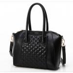 กระเป๋าแบรนด์ axixi หนัง pu แบบเก๋ๆ สีดำเงา (รับประกันของแท้เหมือนแบบ 100%)