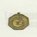 เหรียญจีน สิบสองนักษัตร ปีชวด 25X28มิล(1ชิ้น)
