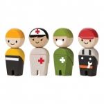 ของเล่นไม้ ของเล่นเด็ก ของเล่นเสริมพัฒนาการ Rescue Crew ชุดทีมกู้ภัย (ส่งฟรี)