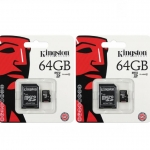 Kingston Micro 64GB with Adapter ( 2 อัน )