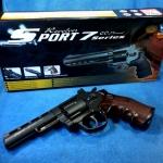 ปืนอัดแก็ส Co2 Revolver Win Gun 4 นิ้ว ดำ