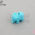 อะคลีลิค รูปช้าง สีฟ้า 11x14มิล (1ชิ้น)