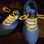 เชือกผูกรองเท้าไฟสีเหลือง Shoelace - LED Yellow color