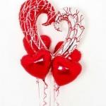 ลูกโป่งฟลอย์รูปหัวใจเสี้ยวใหญ่ พิมพ์ลาย ไซส์ 45 นิ้ว - Heart Shape Foil Balloon/ Item No.TL-G040