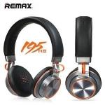 หูฟัง Bluetooth Headphone Remax RB-195HB มาพร้อมฟังก์ชั่นบลูทูธเวอร์ชั่น 4.1 ล่าสุด รองรับสาย Aux ได้ในตัว เล่นผ่านบลูทูธต่อเนื่องได้นานถึง 14 ชั่วโมง Remax ตัวหูฟัง ส่วนตรงครอบหูนุ่มและสบายสุดๆ ให้สัมผัสที่ดีมาก สามารถใช้สนทนาเป็นสมอลทอร์คได้ในตัว ตัวหูฟ