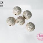 ตัวแต่งหินนำโชค บอลเพชร CZ เกรด จิวเวอรรี่ สีทอง12 มิล