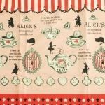คอตตอนญี่ปุ่น ลาย Alice In Wonderland แนวเทพนิยายโทน ชมพู-แดง ขายที่ 1/2 เมตรเป็นต้นไป เหมาะสำหรับงานผ้าทุกชนิด ตัด กระโปรง ทำกระเป๋า ปลอกหมอน และอื่นๆ
