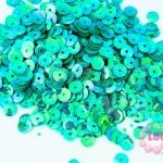 เลื่อมกลม สีเขียว 5มิล(5กรัม)