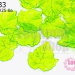 จี้ใบไม้ พลาสติก สีเขียวอ่อน 24X25มิล(1ขีด/100กรัม)