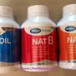 Fish oil 100 แคปซูล + Nat B 100 แคปซูล + Nat C 150 เม็ด