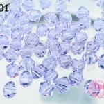 คริสตัลสวารอฟสกี้ (SWAROVSKI) สีม่วงอ่อนใส(371) 4มิล(100เม็ด)