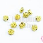 ตัวแต่งสีทอง ดอกกุหลาบ 6มิล(10ชิ้น)