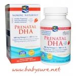 น้ำมันปลา Nordic Naturals Prenatal DHA 500 มิลลิกรัม รสสตรอเบอร์รี่ - 90 เม็ด
