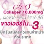 Cleo Collagen สุดยอดนวัตกรรมที่ให้คุณค่าของคอลลาเจนมากที่สุดและดีที่สุด 10,000mg Plus รสส้ม ขาวใส เต่งตึง กระชับ เติมเต็มทุกร่องรอยเหี่ยวย่น ภายใน 3 วัน เลขที่ อย. 10-1-04741-1-0877