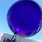 """ลูกโป่งจัมโบ้ สีม่วง คริสตัล ขนาด 24 นิ้ว - Round Jumbo Balloon Purple Crystal 24"""""""