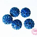 ตัวแต่งสร้อยข้อมือบอลเพชร สีน้ำเงิน12 มิล