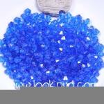 คริสตัลพลาสติก สีน้ำเงินแหลมหัวท้าย 3 มิล 1 ขีด