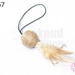 ลูกบอลล่อแมว สายเชือกยืด (1อัน)
