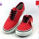 รองเท้าผ้าใบ MASHARE (มาแชร์) รุ่น V-4 สีแดง เบอร์ 37-44