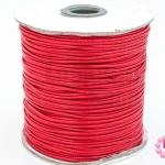 เชือกค๊อตต้อนเคลือบ สีแดง 1.5มิล(1ม้วน)(100หลา)