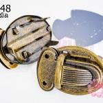 ตัวล๊อคกระเป๋า สีทองเหลือง 25X35มิล(2ชุด)