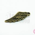 จี้ทองเหลือง ปีกนก 10X27มิล(1ชิ้น)