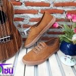 รองเท้าผ้าใบแฟชั่นเกาหลี สีเหลืองกำมะหยี รุ่นSM1637 เบอร์36-40