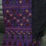 กางเกงผ้าปัก สำหรับผู้หญิง โทนสีม่วง