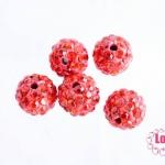 บอลเพชร เกรดดี 10 มิล สีส้มแดง