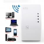สุดคุ้ม ปลั๊กดูดสัญญาณ WiFi ง่ายๆ แค่เสียบปลั๊ก Best Wireless-N Router 300Mbps Universal WiFi Range Extender Repeater High Speed (White)