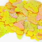 เลื่อมผีเสื้อ สีเหลืองเข้ม 17X22มิล(5กรัม)