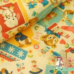 คอตตอนญี่ปุ่น ลาย Hallmark เหมาะสำหรับงานผ้าทุกชนิด ตัด กระโปรง ทำกระเป๋า ปลอกหมอน และอื่นๆ