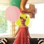 """ลูกโป่งฟอยล์รูปตัวเลข 4 สีทอง ไซส์จัมโบ้ 40 นิ้ว - Number 4 Shape Foil Balloon Size 40"""" Gold Color"""