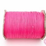 เชือกค๊อตต้อนเคลือบ สีชมพู 1.0มิล(1ม้วน)(100หลา)