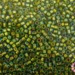 ลูกปัด MATSUNO ปล้องสั้น สีเขียวอ่อนเหลือบรุ้ง 2X2มิล(100กรัม)