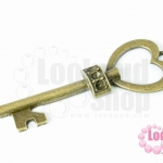จี้กุญแจหัวใจ สีทองเหลือง 20X56มิล(1ชิ้น)