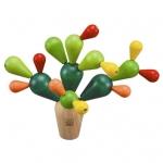 ของเล่นไม้ ของเล่นเด็ก ของเล่นเสริมพัฒนาการ Balancing Cactus เกมตะบองเพชร (ส่งฟรี)