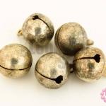 กระดิ่งพม่า สีโรเดียม ปากกลม 14มิล(10ชิ้น)